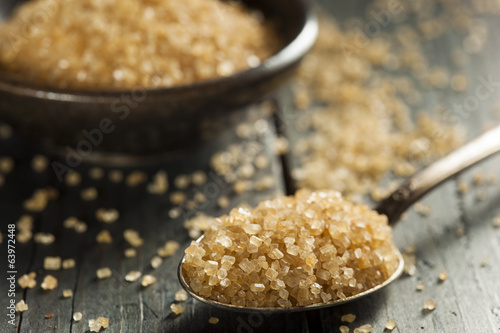 Fotografie, Obraz  Raw Organic Cane Sugar