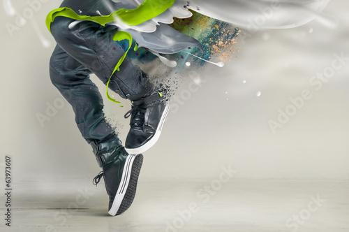 Küchenrückwand aus Glas mit Foto Tanzschule Modern dance pose