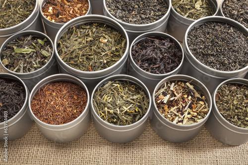 Fotografie, Obraz  tea samples background