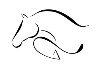NaklejkaHorse logo jumping