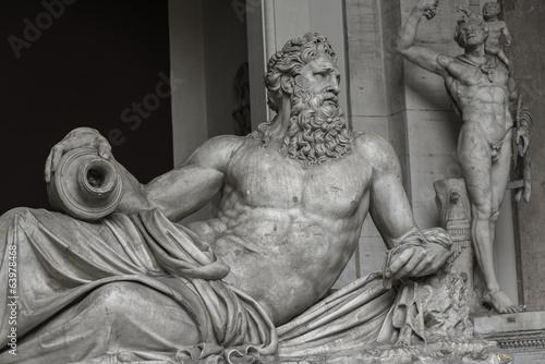 Fotografie, Obraz  Statue of Neptune at Capitoline, Rome, Italy