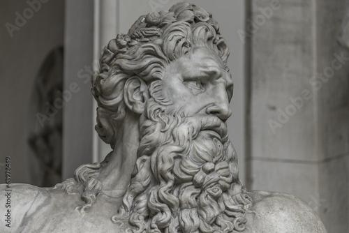 Foto op Plexiglas Historisch geb. Statue of Neptune at Capitoline, Rome, Italy