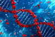 canvas print picture - DNA background