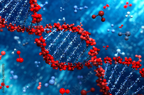 Fotografie, Tablou DNA background