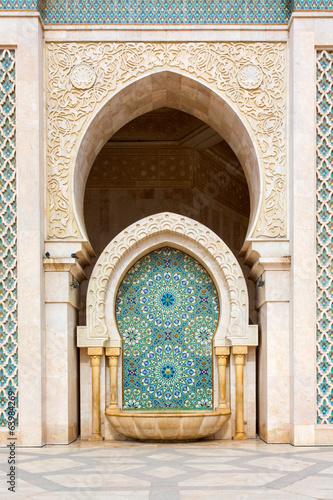 Cuadros en Lienzo Detail of Hassan II Mosque in Casablanca, Morocco
