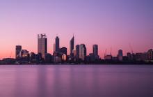 Perth City Skyline At Night