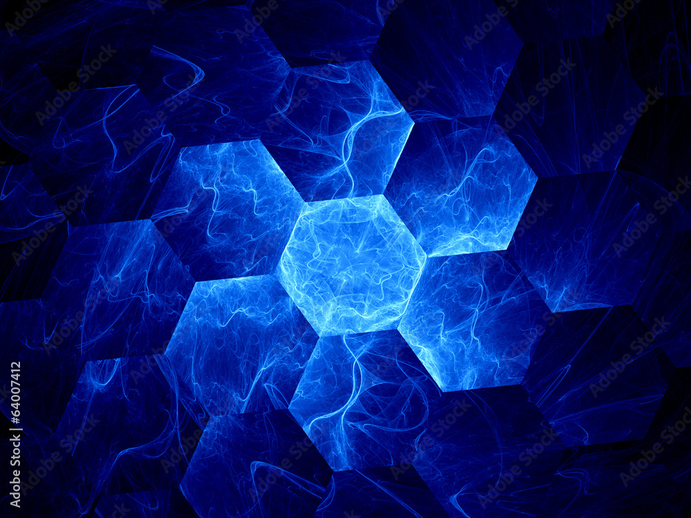 Fototapeta Blue graphene grid