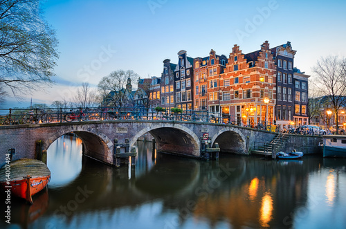 Photo  Sunset in Amsterdam, Netherlands