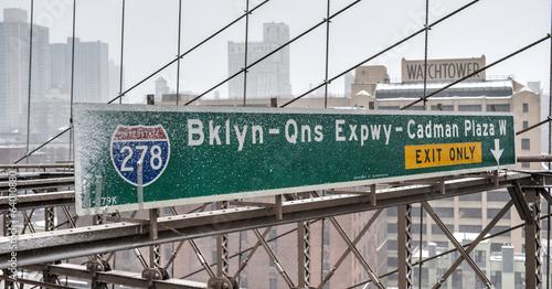 Brooklyn Queens Expressway Exit Sign