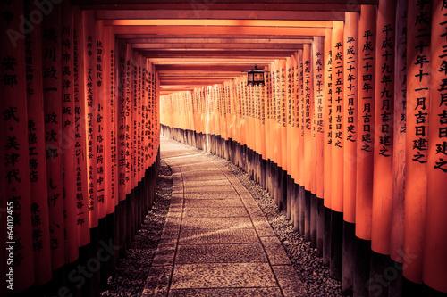 Spoed Foto op Canvas Japan The Light At The End Of The Tunnel