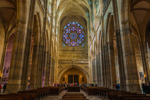 PRAGUE - OCTOBER 02: Saint Vitus Cathedral Interior On October 0