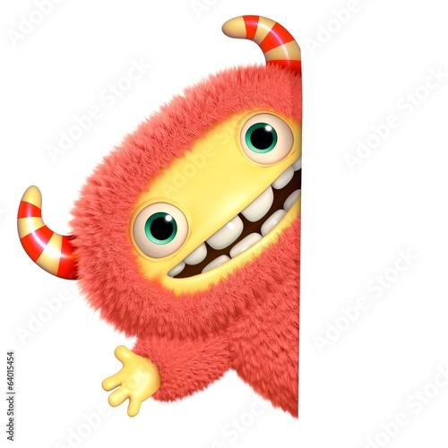 Foto auf Gartenposter Nette Monster 3d cartoon monster