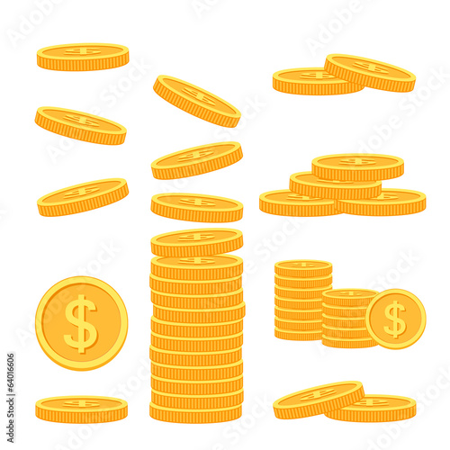 Fotografía  Flat vector money icons