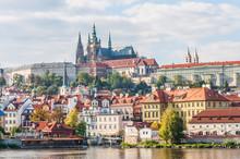 View Of Prague Castle With River Vltava, Czech Republic
