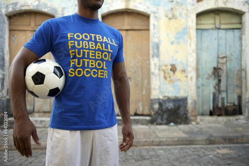 Fotografie, Obraz  Brazilian Soccer Player with International Football Shirt