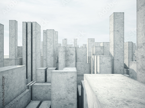 Fototapety, obrazy: abstract concrete architecture