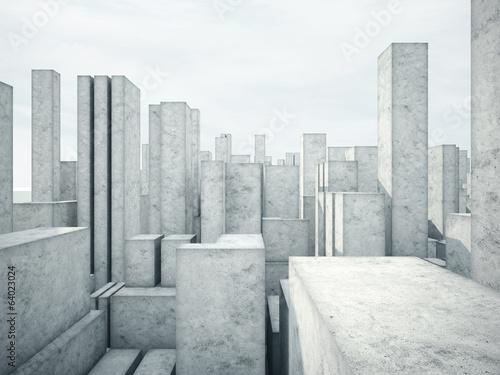 abstract concrete architecture - fototapety na wymiar
