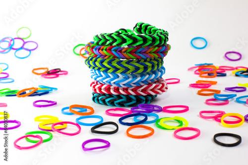 Fotografía  Pulsera de gomas de colores