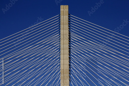 Photo  Detail of a cable-stayed bridge
