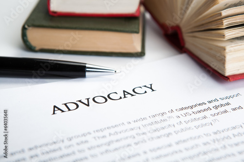 document with the title of advocacy Canvas Print