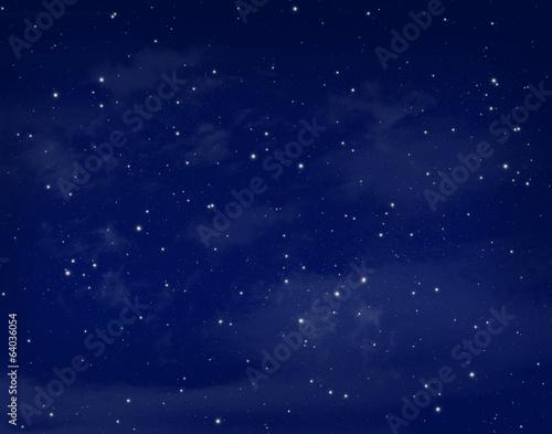 Canvastavla Stars in a night blue sky