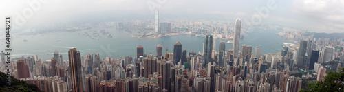 Fotobehang Hong-Kong Panorama of Hong Kong from Victoria Gap, near the top of Victori