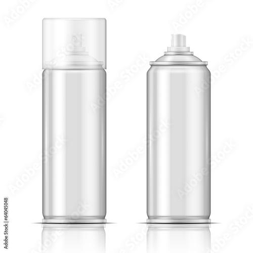 Photo  Blank aluminium spray can template.
