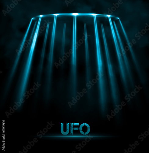 UFO background Poster