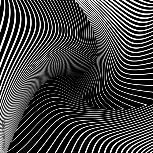 Fotografija  Design monochrome triangle movement illusion background