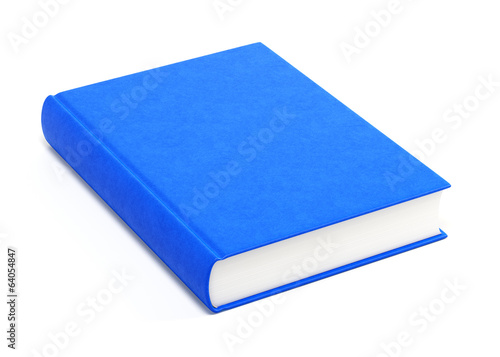 Fotografie, Obraz  Blue hardcover book isolated on white background