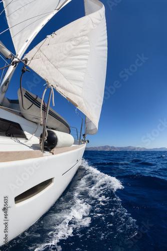 Poster Zeilen Sailing boat in the sea