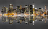 Fototapeta New York - New York City night view