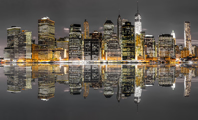 Obraz na Plexi Miasta New York City night view