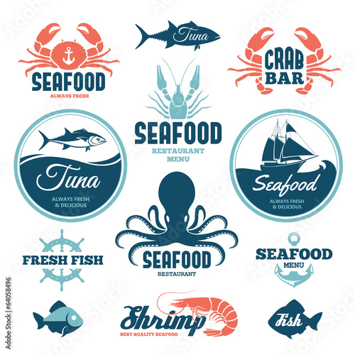 Photo  Seafood labels