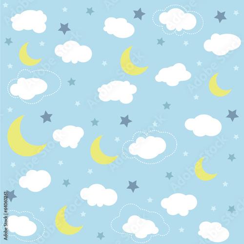 dzieciecy-desen-w-chmury-i-ksiezyce