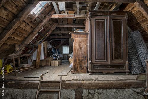 Fotografie, Obraz  Dachboden