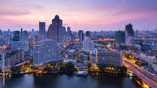 Spoed Foto op Canvas Bangkok Bangkok sunrise