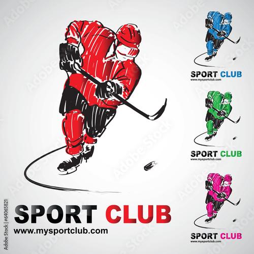 Photo  hockey sur glace club joueur hockeyeur logo sport