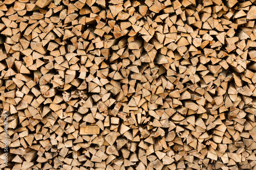 Photo Stands Firewood texture Large beech wood pile
