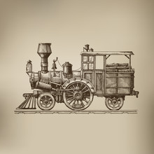 Locomotive. Vector Format