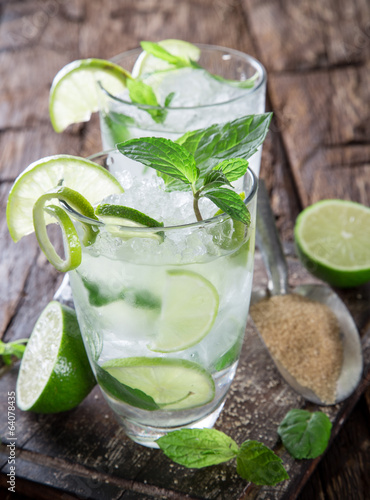 Photo  fresh mojito drink