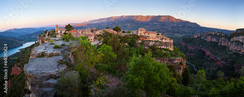 Siurana village in the province of Tarragona (Spain)