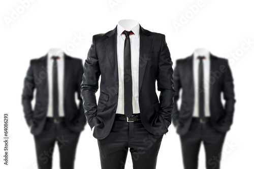 Fotografía  business man in black suit with no face