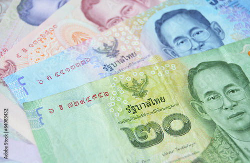 Canvas-taulu Thai Baht banknotes