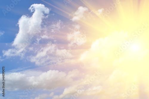 Obraz sunbeam and clouds in sky - fototapety do salonu
