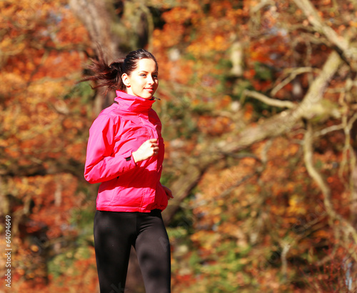 Staande foto Jogging Healthy fit woman runner...