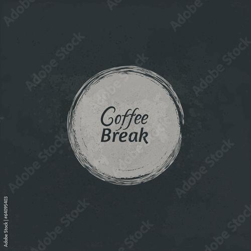 Coffee break symbol. Canvas Print