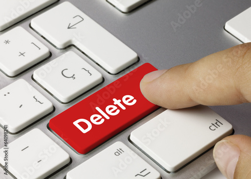 Delete. Keyboard Canvas Print