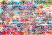 Colorful Grunge Art Wall Illustration, Background