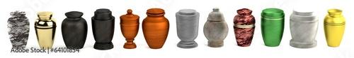Foto realistic 3d render of urns